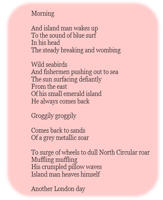 Island Man by Grace Nichols - Friday G&T Gallery