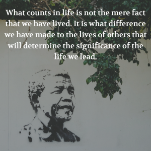 Nelson Mandela quote Friday G&T