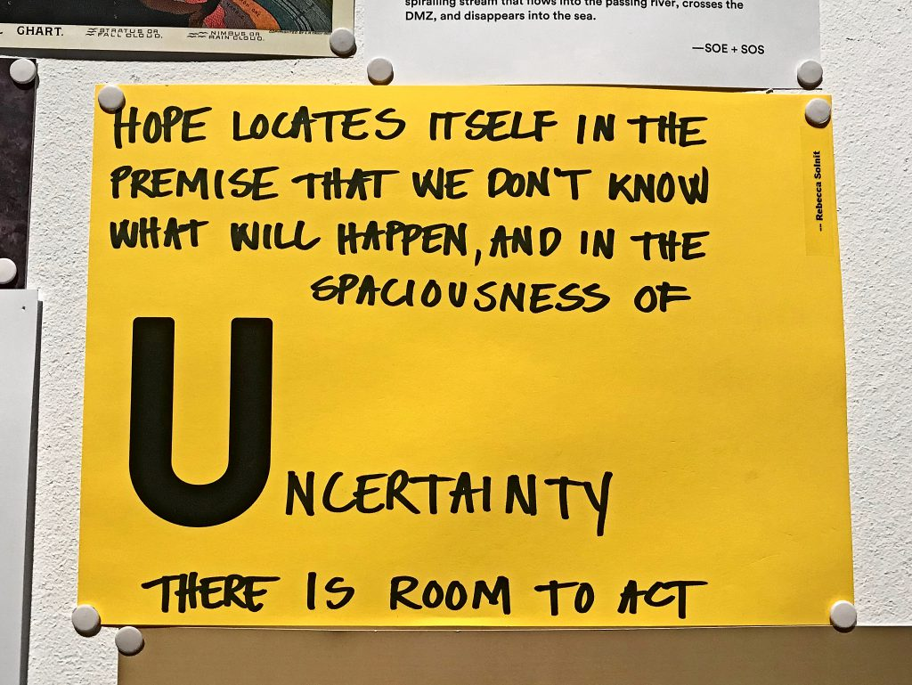 Spaciousness of uncertainty poster