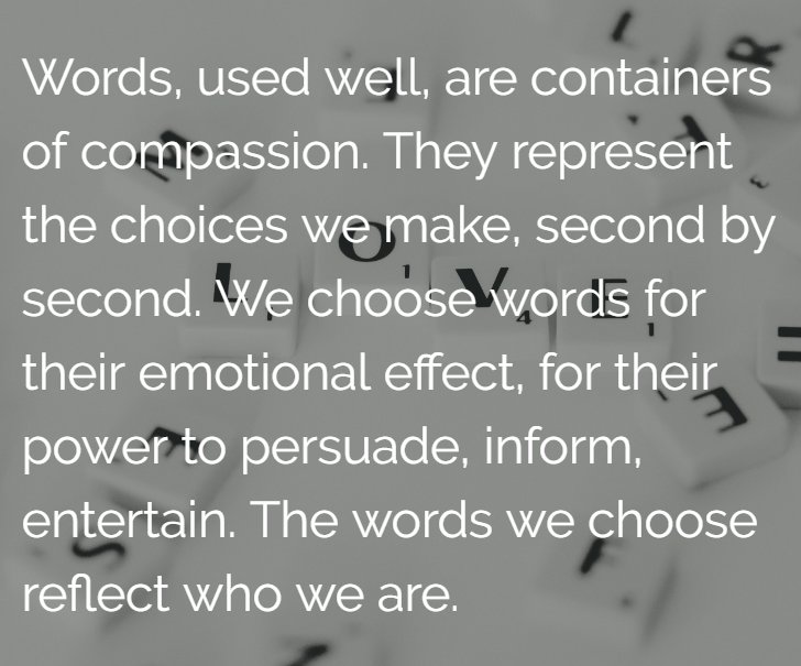 Choosing the right words
